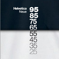 Helvetica Neue Descending a Shirt